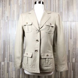 Tahari A. S. L Separates | Khaki 3 Button Blazer